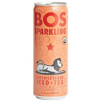 Bos Sparkling Iced Tea - White Peach & Elderflower, 12oz. THUMBNAIL