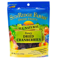 Sunridge Dried Cranberries, 5oz. LARGE