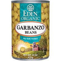 Eden Organic Garbanzo Beans, 15oz. LARGE
