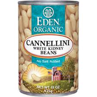 Eden Organic White Kidney Cannellini Beans, 15oz. LARGE