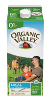 Organic Valley Fat Free Milk, 1/2 Gal. LARGE