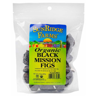 Sunridge Organic Dried Black Mission Figs, 8oz. LARGE