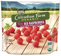 Cascadian Farm Organic Raspberries, 10oz. LARGE