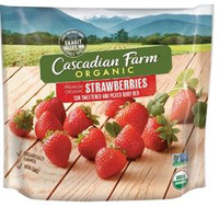 Cascadian Farm Organic Strawberries, 10oz. LARGE