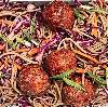 *Glazed Meatballs With Soba Noodles