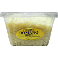 Grassi Shredded Pecorino Romano, 8oz. LARGE