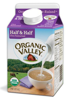 Organic Valley Half & Half, Pint LARGE