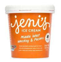 Jeni's Middle West Whiskey and Pecans Ice Cream, 1 Pint MAIN