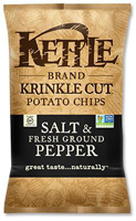 Kettle Brand Salt & Pepper Krinkle-Cut Potato Chips, 8.5 oz. MAIN