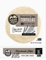 La Tortilla Factory Handmade Style White Corn Tortillas, 8 count LARGE