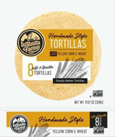 La Tortilla Factory Handmade Style Yellow Corn Tortillas, 8 count LARGE