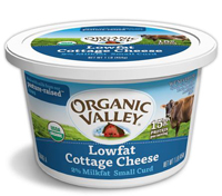 Organic Valley Low Fat Cottage Cheese, 16oz. LARGE