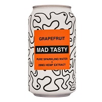 Mad Tasty Sparkling Water - Grapefruit, 12oz. THUMBNAIL