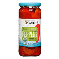 Mediterranean Organics Roasted Red Peppers, 16oz. MAIN