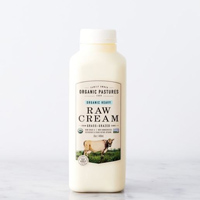 Organic Pastures Raw Cream, 16oz. LARGE