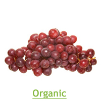 Organic Sweet Scarlet Red Seedless Grapes, 2.25lb Bag LARGE