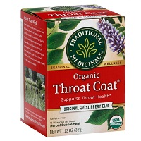 Traditional Medicinals Organic Throat Coat Tea with Slippery Elm, 1.13oz MAIN