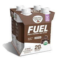 Organic Valley Fuel Chocolate High Protein Shakes, 4 pack THUMBNAIL