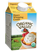 Organic Valley Whipping Cream, 16oz. LARGE