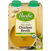 Pacific Organic Low Sodium Chicken Broth, 4pk-8oz. LARGE
