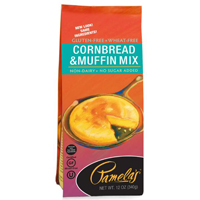 Pamela's GF Cornbread and Muffin Mix, 12oz. LARGE