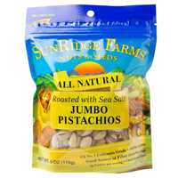 Sunridge Roasted & Salted Pistachios, 6oz. LARGE