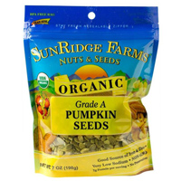 Sunridge Organic Pumpkin Seeds, 7oz. LARGE