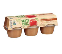 Santa Cruz Organic Cinnamon Apple Sauce, 6 pack LARGE