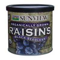 Sunview Organic Black Raisins, 15oz LARGE