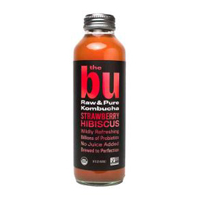 The Bu Strawberry Hibiscus Kombucha, 14 oz. THUMBNAIL
