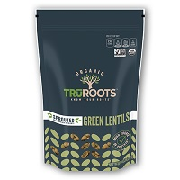 TruRoots Organic Sprouted Green Lentils, 10oz. MAIN