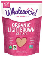 Wholesome Organic Light Brown Sugar, 1.5lb. LARGE