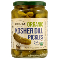 Woodstock Organic Kosher Dill Pickles, 24oz. LARGE