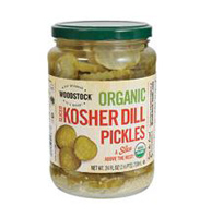 Woodstock Organic Sliced Kosher Dill Pickles, 24oz. MAIN