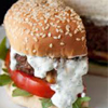 * Grilled Burgers with Blue Cheese Mayonnaise