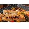 *Halibut With Charred Garlic Oil & Tomato Relish