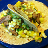 * Pork Fajitas with Corn and Pineapple Salsa
