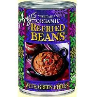 Amy's Organic Mild Refried Beans W/ Green Chile, 15.4 oz. THUMBNAIL