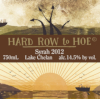 Hard Row to Hoe 2012 Syrah SWATCH