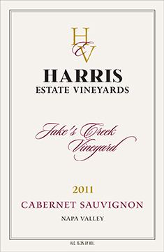 2011 Jake's Creek Cabernet Sauvignon,<br> 750 mL