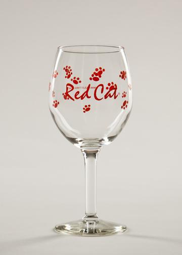 Red Cat Wine Glass Hazlitt 1852 Vineyards Online Store