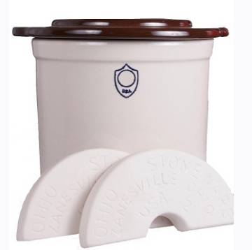 Ohio Stoneware 2 Gallon Fermentation & Preservation Crock - 3 Piece Kit 01206