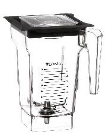 Blendtec FourSide Replacement Jar Comes with Vented Gripper Lid  Part# 40-609-60