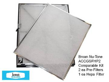 High Quality generic filter for Broan Nu-tone  Models GSFH1K and GSVH1K Meticulously designed to compare Broan Nu-tone P