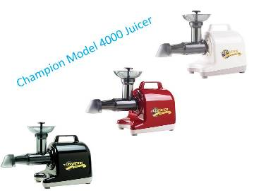 Champion 4000 Juicers - Grinding & Greens Augers