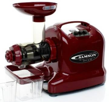 The Samson 6-1 Multipurpose Juice Extractor  the original single auger juicer LImited Special Edition Maroon Juicer 110 MAIN