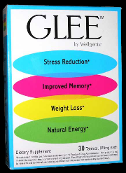 GLEE Dietary Supplement for Stress Reduction, Weight Loss, Energy and Memory 30 Tablets THUMBNAIL