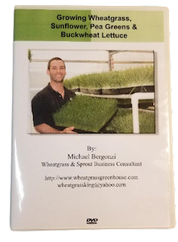 Michael Bergonzi Growing Wheatgrass & Sprouts DVD LARGE