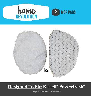 Bissell PowerFresh Steam Mop Pad Kit (2-Pads)  Generic Mop Pads for Model Series 1940 Steam Mop Mop Pads Comparable to P_MAIN