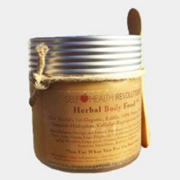 Herbal Body Food™ - Natural, Organic Anti-Oxidant Skin Serum Moisturizing Therapy - 8.5 Ounce Jar